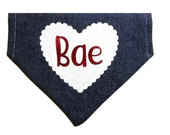 Bae heart dog bandana|Matchmaker|Love|Valentine|Gifts for dogs and dog lovers