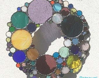 Confetti glass wreath stained glass / stained glass / stained glass / Sunchatcher/cinema / Tiffanytechnik