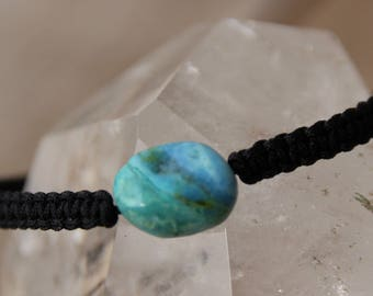 larimar pearl bracelet black nylon thread