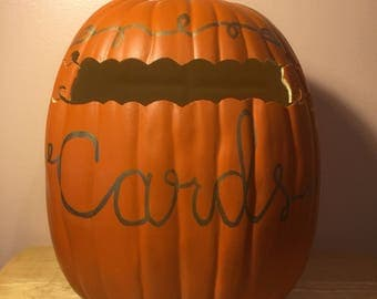 "Cardholder 13"" Orange Foam Pumpkin"