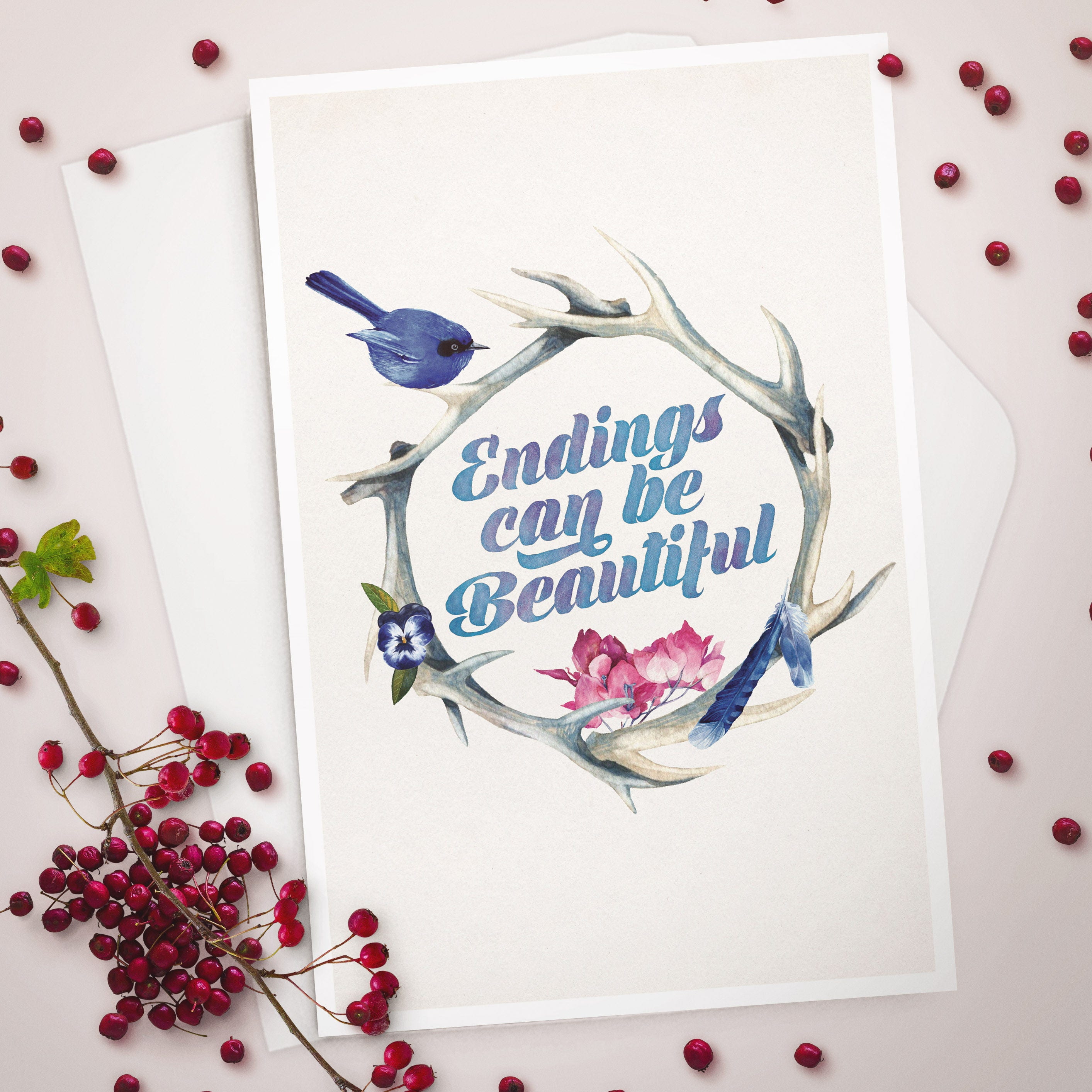 Sympathy greeting card endings can be beautiful sympathy card for sympathy greeting card endings can be beautiful sympathy card for friend grief kristyandbryce Images