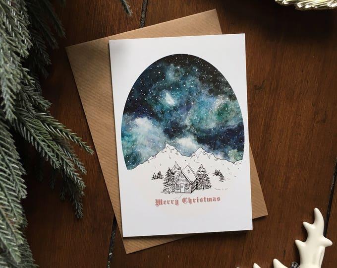 Starry Sky Christmas Card - Single Card