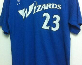 Nike Team Wizards 23 Jordan Medium Size Made in Usa
