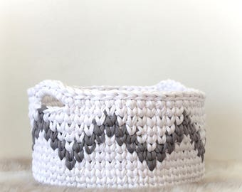 Crochet Basket Pattern, Intermediate Pattern, Storage Baskets, Crochet Pattern, Basket, Nursery Decor, Gift, Extreme Knitting, T-shirt Yarn