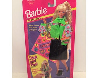 1994 Barbie Stick and Peel Fashions