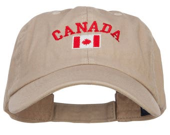 Canada with Flag Embroidered Low Cap