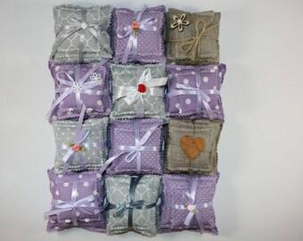 3 packs of Natural Lavender Bags, squares