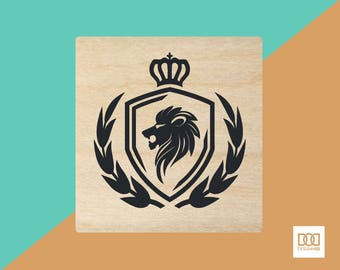 Coat of Arms - 3cm Rubber Stamp (DODRS0124)
