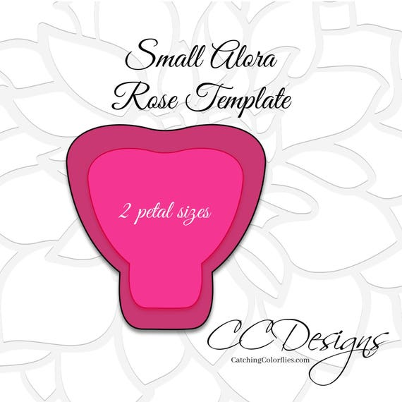 rose petal templates free - large paper rose template giant paper flower printable