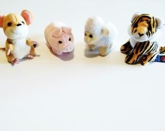 1 Stuffed animal - plush mini Trudi - tiger - mouse - sheep - pig - Trudi stuffed animal - vintage stuffed animal - gift - children room