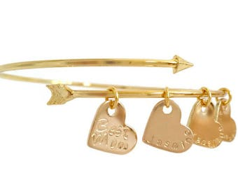 Custom Arrow Bracelet | Best Friend Bracelet | 2 3 4 Sisters bracelet | bridesmaid bracelet  | Mother's Day Gift | Christmas Gift