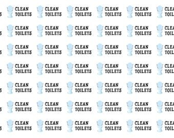 Clean Toilets Planner Stickers