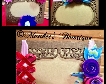 Embroidery lace bow on a headband