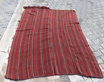 Vintage Turkish Kilim Rug, 4.8 x 7.1 Feet, Thin Kilim Rug, FREE SHIPPING, Use For Curtain Kilim Rug, Decorative Bohemian Kilim Rug No 1755