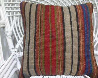 18x18 bohemian throw pillow 18x18 kilim pillow 18x18 morrocan pillow 18x18 vintage throw pillows 18x18 decorative pillows for couch  1872