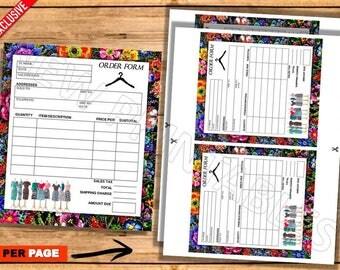 Lularoe Order form, Marketing, Lularoe Notepad, Instant download, Home Office Approved