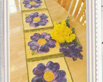 SALE** Pansy Table Runner - Pattern - by Shabby Fabrics - Any Flower!