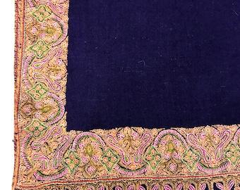 Pure Pashmina Shawl/Wrap, Hand Embroidery, Pure Cashmere Shawl, Cashmere Wrap, Sozni Hand Embroidery, Kashmiri Work, Sozni Work, Blue Shawl
