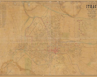 1889 Map of Ithaca New York