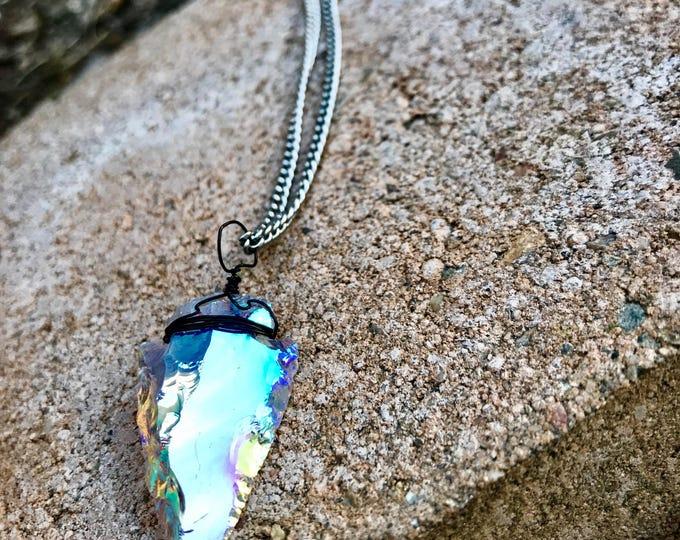 Angel Aura Arrowhead Necklace