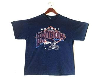 Vintage 1990s Denver Broncos Denver Colorado NFL football t-shirt
