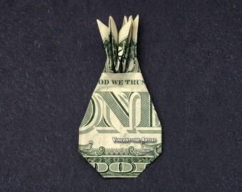 PINEAPPLE Money Origami Dollar Bill Fruit Food Fruit Cash Sculptors Bank Note Handmade Dinero