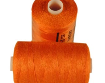 Spool of thread sewing 100% polyester each containing 1000 yards (approx. 914 m) / 158 Orange