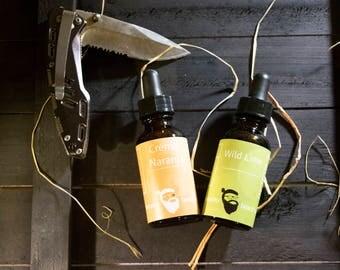 Dual Collection - Crèma Naranja & Wild Lime Beard Oil 1oz each - Beard Moisturizer, Beard Conditioner, Beard Care
