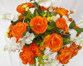 Cemetery Silk Flower Arrangement