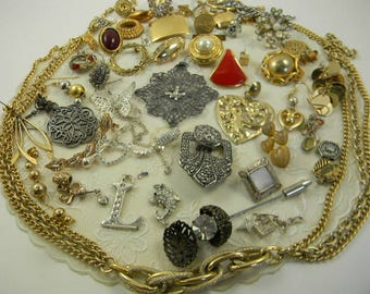 Vintage Destash Jewelry Lot Costume Jewelry Destash Lot
