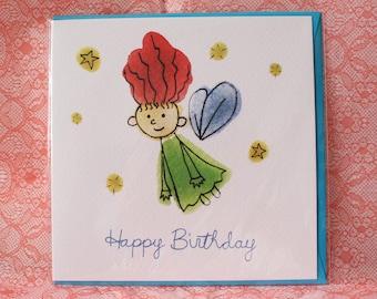 Flying Fairy Birthday Card