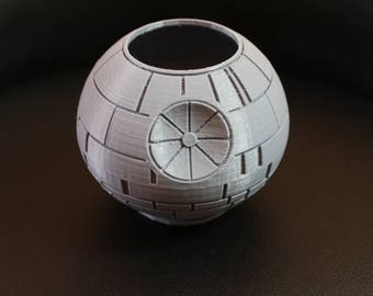 Death Star Pot Planter Pen Holder,Star Wars Death Star,Planter with Drain hole,Death Star Pen Holder,Star Wars Geekery Gift,Stocking Stuffer