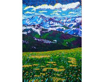 "Colorado Mountains - Fine Art Giclee Print 8""x12"""