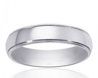 ON SALE 14K White Gold Wedding Band