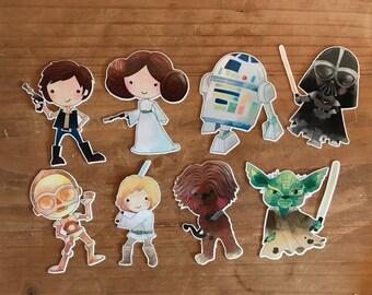 Star Wars die cuts. Die cuts to decorare your planner, memory book, scrapbook or travelers notebook. Ephemera
