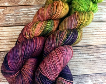 Misfit- Isabel - Rainbow Dash - Hand Dyed Yarn - 75/25 Superwash Merino/Nylon