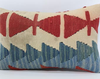 12x20 Naturel Kilim Pillow Sofa Pillow 12x20 Bohemian Kilim Pillow Lumbar Kilim Pillow Anatolian Kilim Pillow Cushion Cover  SP3050-1060