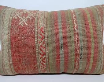 Handwoven Kilim Pillow Boho Pillow 16x24 Turkish Kilim Pillow Decorative Kilim Pillow Naturel Kilim Pillow Cushion Cover SP4060-1029