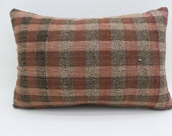 16x24 Pillows Multicolor Pillow Bohemian Pillow 16x24 Brown Pillow Striped Pillow Plaid Pillow Gray Pillow Ethnic Cushion Cover SP4060-1313