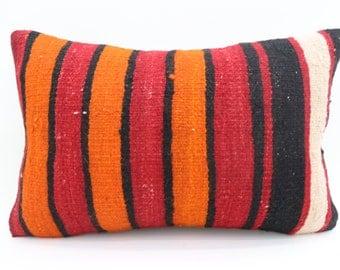 16x24 Pillow Cover Multicolor Pillow Bohemian Pillow 16x24 Orange Pillow Striped Pillow Throw Pillow Sofa Pillow Cushion Cover SP4060-1319
