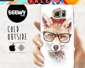 French Sales!!! Fox Hipster Case SAMSUNG Galaxy A7 A5 A3 Case LG G3 G2 Case HTC One M9 Case Sony Xperia Z5 Compact Case Google Nexus 6 Case
