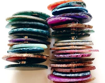 Unique Magnets - Agate Magnet - Assorted Colors Available (qty 5 included)