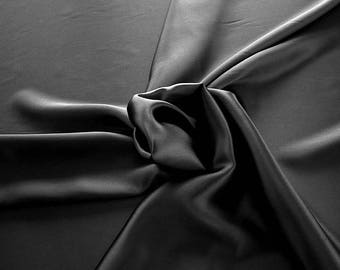 1712-201 - Crepe Satin silk 100%, width 135/140 cm, made in Italy, dry cleaning, weight 100 gr