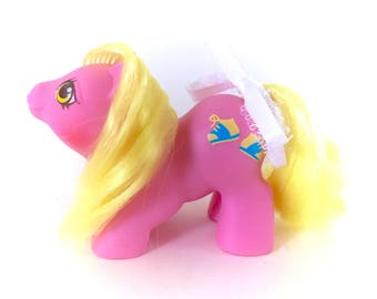 G1 My Little Pony Newborn Tappy Baby Vintage Original 1987 MLP Twin Babies Ponies Pink Body Shoes Sneaker Yellow Hair 80s 1980s Kawaii Rare