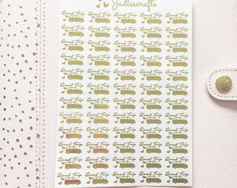 Foil Road Trip Stickers | Planner Stickers