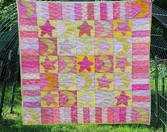 Stars and Moons Baby Quilt