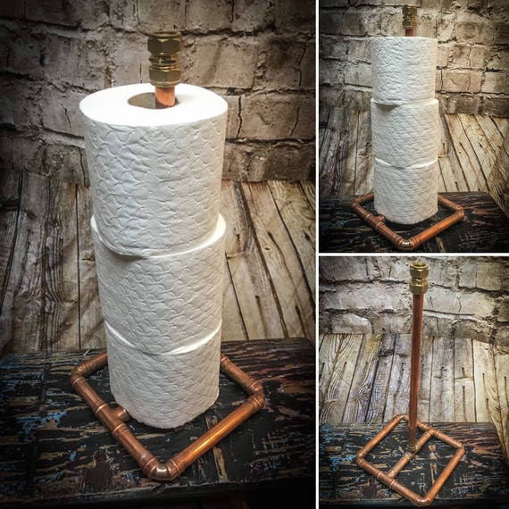 Industrial Style copper pipe Toilet roll holder