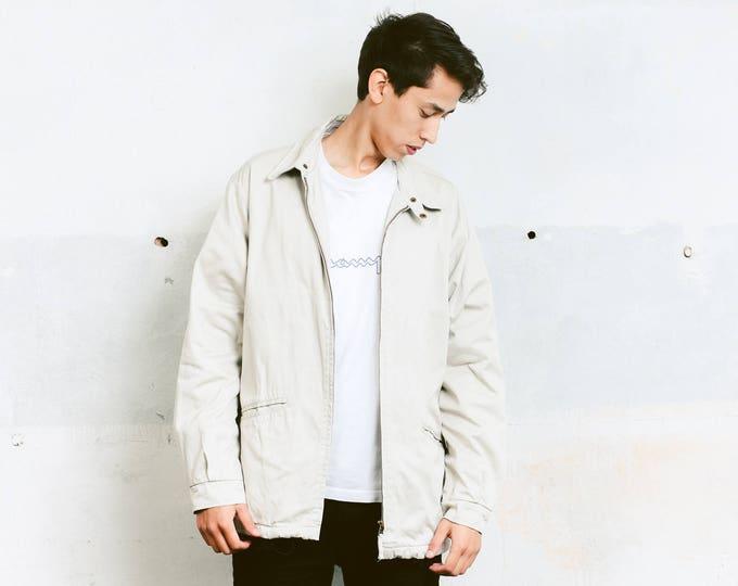 Denim Coach Jacket . Vintage 90s Windbreaker Outerwear Grey Spring Jacket Sportswear Bomber Jacket Denim Jacket Oversized Jacket. size Large