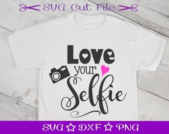 Love Your Selfie Svg, Valentine SVG Cut File, SVG Valentine, SVG for Silhouette, Cupid svg, Love svg, Valentine Svg File, Svg Valentines Day