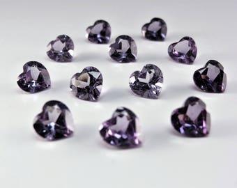 Alexandrite 8x8mm Heart Shape Cut Loose Stones Color Change Corundum Gemstones